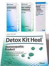 HEEL Detox Kit Heel ( Lymphomyosot - Nux Vomica Homaccord - Reneel ) FREE POST