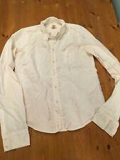 Abercrombie Fitch Women Oxford Button Down Shirt White / Pink M Cotton