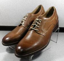 209590 MS50 Men's Shoes Size 11.5 M Dark Tan Leather Lace Up Johnston & Murphy