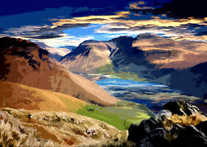 SCA FELL PIKE LAKE DISTRICT Limited  Print By Sarah Jane Holt Large Version