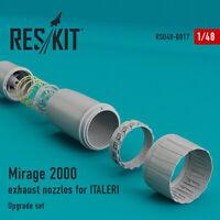 Reskit RSU48-0017 Mirage 2000 nozzles exhaust Italeri/ Kinetic Upgrade 1:48 kit