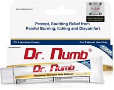 Pack of 2 Dr. Numb 5% Topical Anesthetic Numbing Cream for Pain Relief 10g