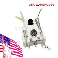 US!! Dental Portable Turbine Unit 4Holes Work W/ Air Compressor 3 Way Syringe