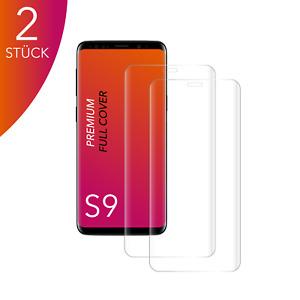 2X für Samsung Galaxy S9 Panzerfolie Hartglas 9H 3D Curved Displayschutz CLEAR