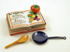 NEW FRENCH LIMOGES BOX La Ratatouille RECIPE COOK BOOK W REMOV. SKILLET & SPOON