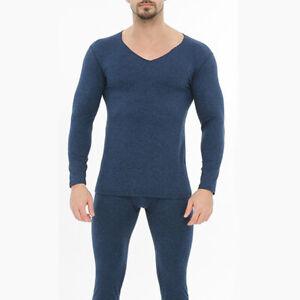 Men Thermal Underwear Ultra Soft Fleece Lined Base Layers Winter Long Johns Set