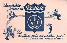 RADIOLA POSTES DE RADIO BUVARD BLOTTING PAPER