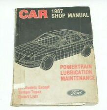 1987 Ford Mustang Thunderbird Shop Powertrain Lubrication Maintenance Manual #F7