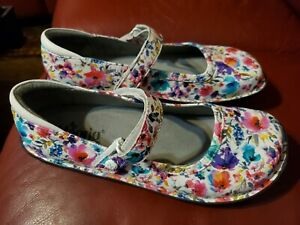Alegria Paloma BEL-139 Mary Jane Happy Floral Flower Comfort Shoes Size 40