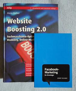 Fachbuch Website Boosting 2.0 (2. Auflage) mit Bonus-Büchlein Facebook-Marketing