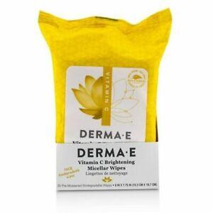 Derma E Vitamin C Brightening Glow Micellar 30 Pre-Moistened Biodegradable Wipes