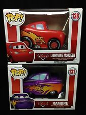 Funko Pop! Disney Pixar Cars 2 Figure Lot - Lightning McQueen #128 - Ramone #131