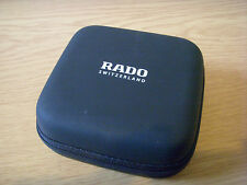 Black Faux Leather Genuine Rado Watch Presentation/Travel Case With Zip Type Lid