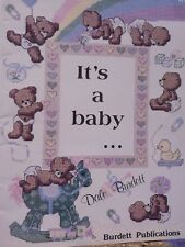 IT'S A BABY 16 patterns Counted Cross Stitch LEAFLET/BOOKLET