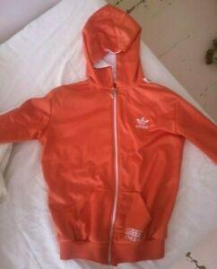 Adidas Chile 62 Women's Jacket Orange 3 Stripes Track Top Trefoil Logo Size XS