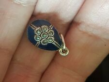 silver enamelled egg pendant