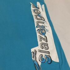 Vintage Slazenger Colour Block T-Shirt Aqua/Grey/White/ Medium Chest 95cm