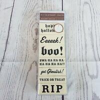 Martha Stewart Crafts 7 Spooky Phrase Wood Stamps