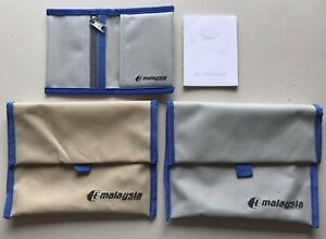 3x Malaysia Airlines Folding Zipped Pouch Wallets Organiser Makeup Toiletry Bag