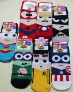 Super Hero Cotton Sock MARVEL COMICS Men Womens Crew Ankle Casual Dress Socks