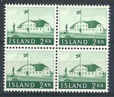 Iceland 1958 Sc# 315 Old Icelandic government building block 4 MNH