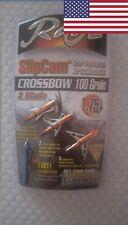"Rage Crossbow Broadhead slipcam 100 Grain 2 blade 1.75"""