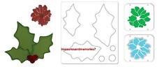 Sizzix BIGZ HOLLY & BERRIES #2 658184 & EMBOSSLITS FLOWER, POINSETTIA