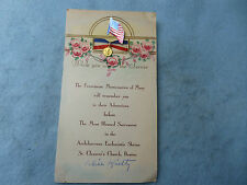 Patriotic Franciscan Missionaries of Mary Prayer Card While You Are in Service