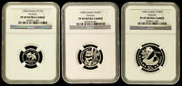 1990 Platinum Panda NGC PF69 UC 1/10, 1/4, 1/2 China 10, 25, 50 Yn Proof Chinese