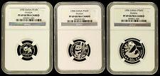 1990 Platinum Panda NGC PF69 UC 1/10, 1/4, 1/2 China 10, 25, 50 Yn Proof Chinese