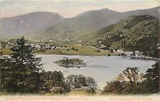 1912 Print Postcard; Grasmere from Hunting Stile showing Lake & Village, Posted