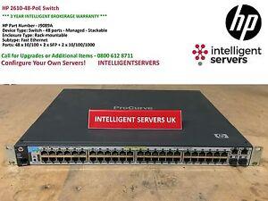 HP 2610-48-PoE Switch ** J9089A **