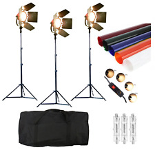 Dimmable Redhead 800W Studio Continuous Flood Spot Tungsten Light Stand Gels UK