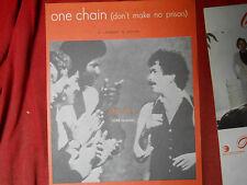 spartito partituras sheet music   carlos santana  ONE CHAIN originale 1978