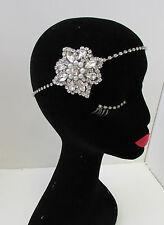 Vintage 1920s Silver Diamante Headpiece Great Gatsby Flapper Headband Bridal A79
