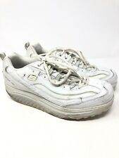 Sketchers Shape Ups 11800EW White Leather Fitness Toning Shoes Women's Size 11