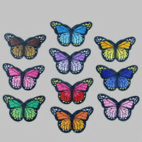 Lot 10 X Embroidery Butterfly Sew On Patch Badge Embroidered Fabric Applique DIY