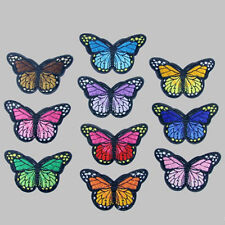 10Pcs Embroidery Butterfly Sew On Patch Badge DIY Embroidered Fabric Applique UK