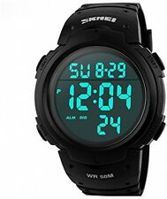 Aposon Mens Military Digital Sport Watch with Fashion Design Electronic LED -