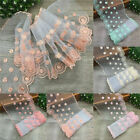 Embroidered Tulle Lace Trim Mesh Net Edge Wedding Bridal Sewing DIY Craft 1 Yard