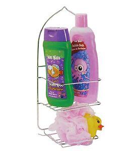 "14"" Chrome Shower Caddy Bathroom Furniture Shampoo Holder Storage Handy Hanger"