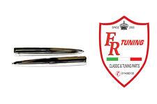 COPPIA BAFFI FREGIO ANTERIORE FIAT 500 N/D IN PLASTICA CROMATA
