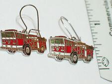 Fire Truck Earrings , (**)