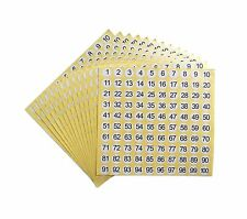 dealzEpic - Number Stickers - 1 to 100 Round Self Adhesive Stickers | Invento...