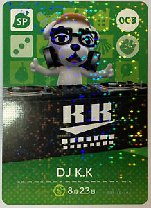 Amiibo Cards 003 DJ KK Animal Crossing Japanese Doubutsunomori