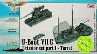 CMK 1/72 U-Boat Type VIIC Exterior Set Part I - Turret for Revell # N72004