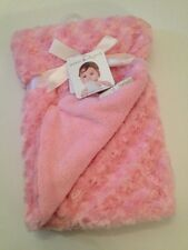 Blankets And & Beyond Baby Girls Blanket Pink Rosette Swirls Layette 30x30