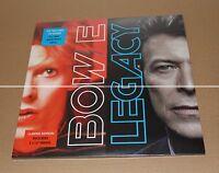"""DAVID BOWIE - LEGACY 2 LP 180gr VINYL + 2 X 12"""" PRINTS - NEUF SCELLE"""