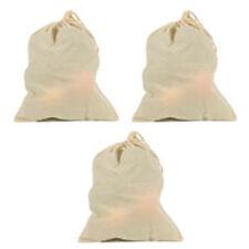 3 ECOBAGS® Organic Cloth Bulk & Produce Bag Large  Reusable Drawstring Produce
