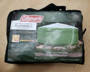 Coleman 7' x 5' Straight Leg Instant Canopy Sunwall Shelter, CANOPY NOT INCLUDED